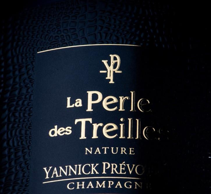 Etiquette Champagne : sérigraphie