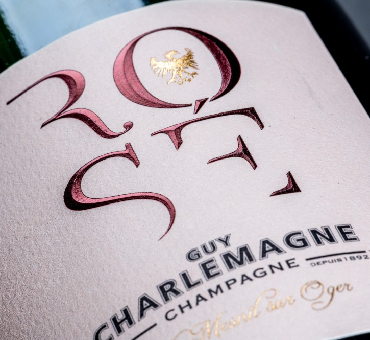 Etiquette Champagne : Dorure à chaud