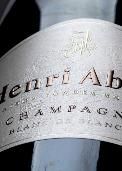 Etiquette Champagne : Foulage