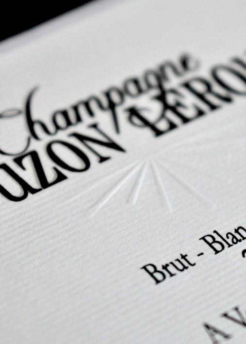 Etiquette Champagne : Gaufrage